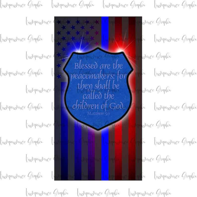 Boys in Blue Line American Flag Sublimated T-Shirt Clothing, Shoes & Accessories T-Shirts