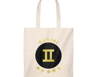 e770b7857a2a Gemini Zodiac Sign Personalized Astrology Tote Bag