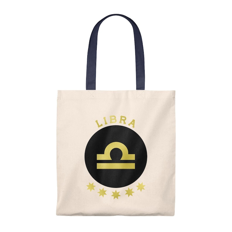 Libra Zodiac Sign Personalized Astrology Tote Bag