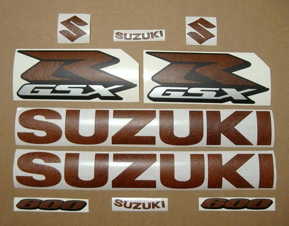 GSXR 750 carbon fiber look decals stickers graphics kit set adhesives logo k5 k6