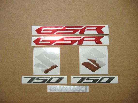 GSR 750 2012 decals stickers graphics kit set logo 2013 GSR750 adhesives labels