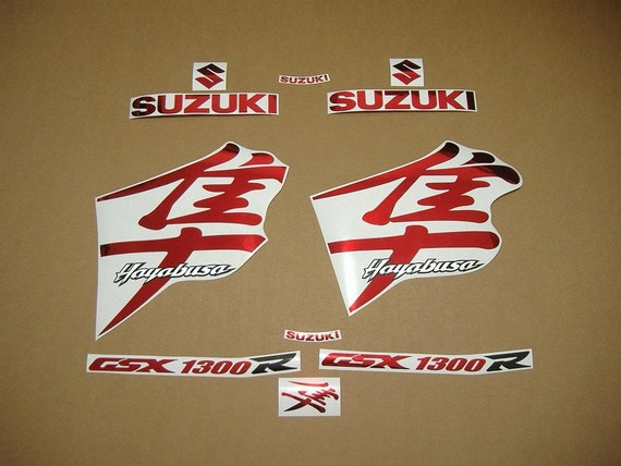 Hayabusa GSX 1300R full Replacement decals stickers kit orange chrome