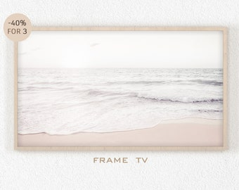 Samsung Frame TV Art Beach Modern Pastel Wall Art 4k Samsung Frame Art Digital Download Coastal House Decor Ocean California Beach Hawaii