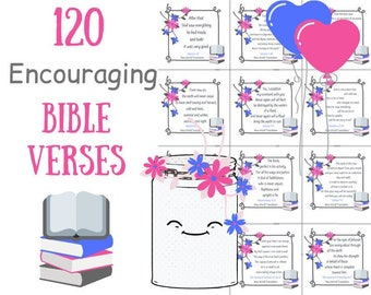 printable encouraging bible verses diy kit inspirational