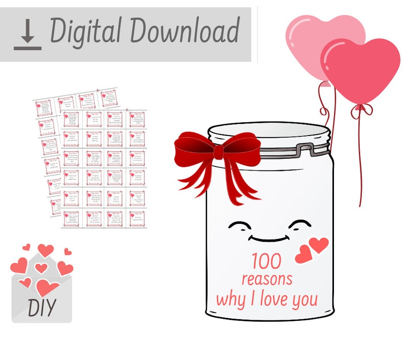 graphic relating to I Love You Because Printable identify PRINTABLE 100 Causes Why I Delight in Yourself Intimate Take pleasure in Messages For Him Get pleasure from Notes Do-it-yourself Package Lengthy Length Partnership Items For Boyfriend