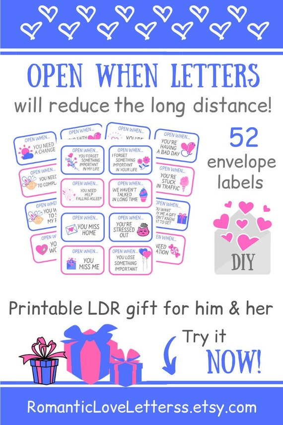 It is a photo of Printable Open When Letters for Boyfriend within handwritten