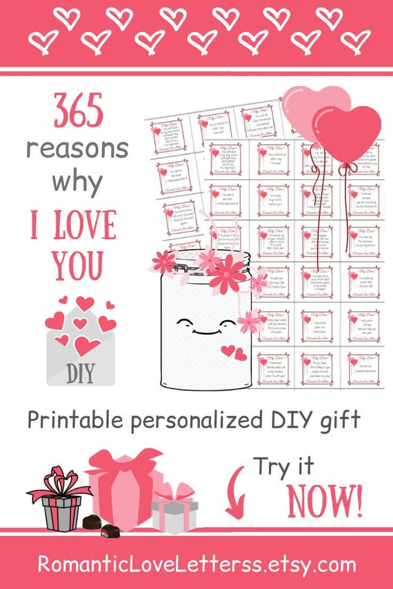 Personalized Gift For Men Romantic Gifts For Him 365 Reasons Etsy