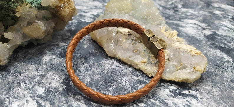 For him Valentine/'s Day Genuine Leather Knitted Handmade Magnetic Closure Men and Women Bracelet,For her