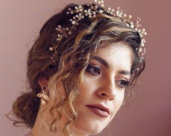 LILAC   Purple Crown, Lilac Crown, Ivory Flowers