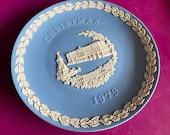 Wedgwood blue jasperware Christmas Plate 1979, Buckingham Palace, Wedgwood Jasperware, jasperware plate, Wedgwood Christmas plate