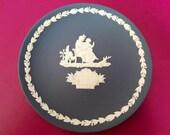 Wedgwood Portland Blue jasperware plate Mother 1975, Wedgwood Jasperware, english pottery, Wedgwood collectable.