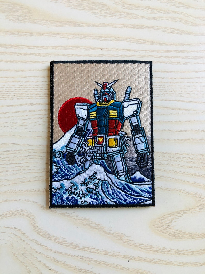 Buy 2 Get 1 Free #V-4052 Cool Patch Velcro on 4 The Great Gundam off Kanagawa Patch Japan Patch