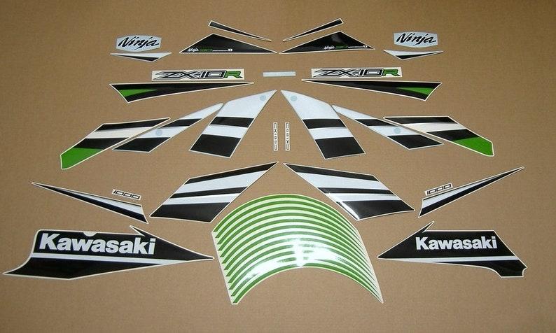 Kawasaki Zx10r Ninja 2015 30 Th Anniversary Edition Decals Kit Set Aufkleber Graphics Stickers Pegatinas Reproduction Adhesives Restoration