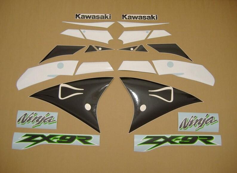 Kawasaki Zx9r Ninja 2002 Full Decals Set Kit Aufkleber Autocollants Restoration Graphics Stickers Pegatinas Emblems Reproduction Labels Logo