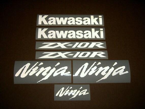 Custom Replica Kawasaki decals Ninja ZX10r ZX6R any colour any size.