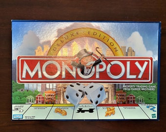 Vintage Monopoly Deluxe Edition by Parker Brothers 1998 - COMPLETE