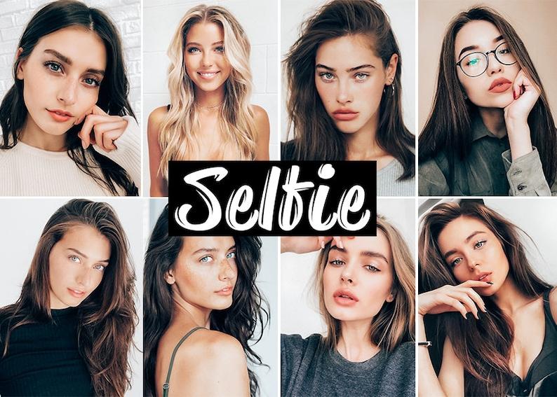 3 Lightroom Mobile Presets Selfie Portrait preset Instagram image 1