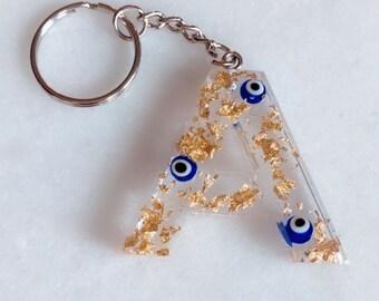Evil Eye Keychain Etsy