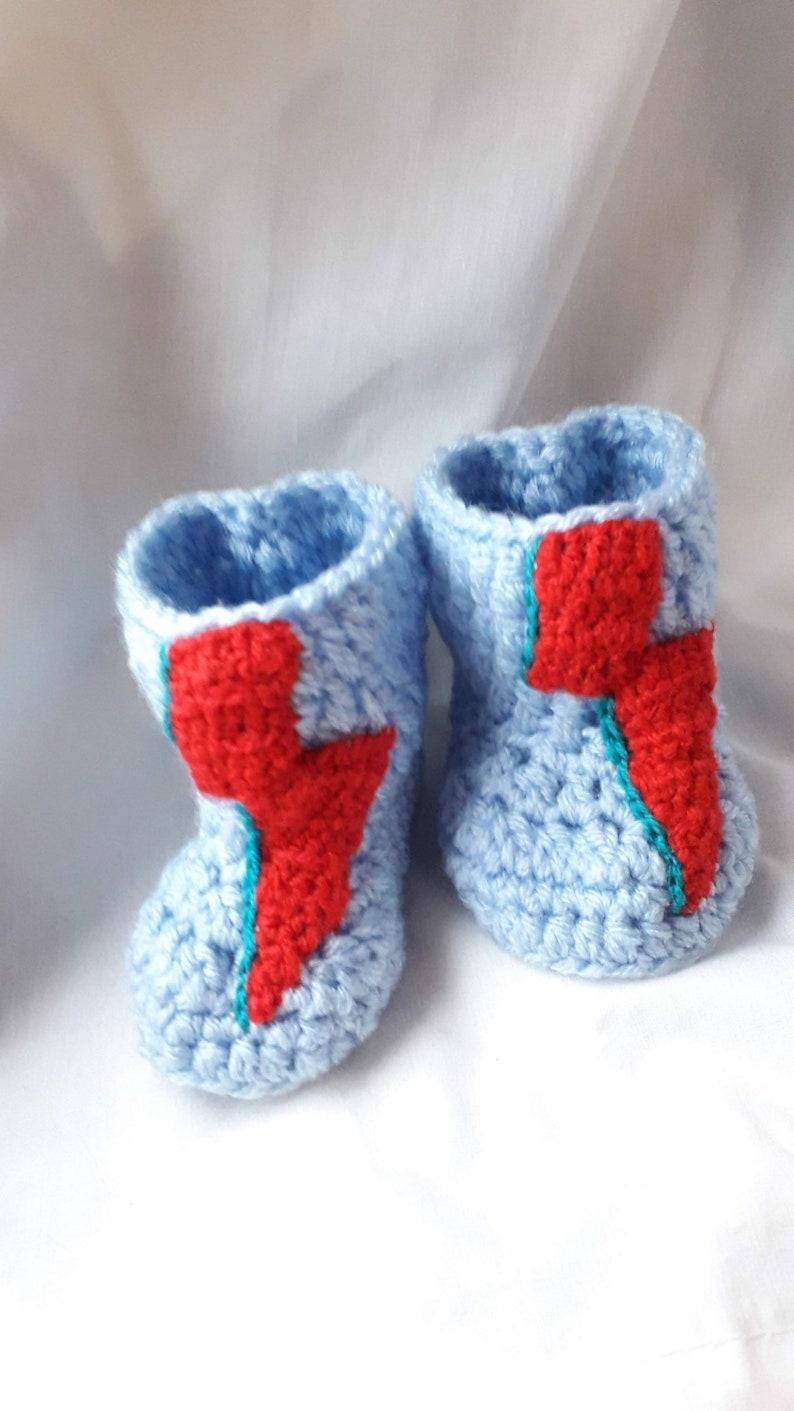 David bowie inspired crochet booties