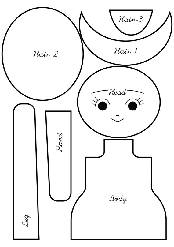 Rag Doll Body Pattern Pdf Instant Download Etsy