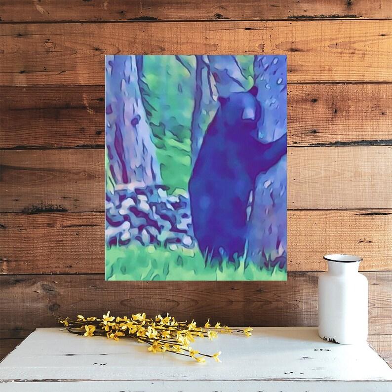 Black Bear Canvas Gallery Wraps