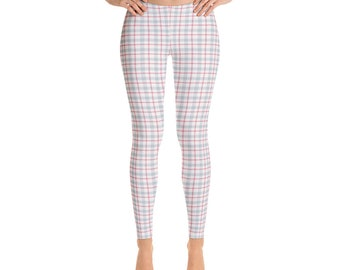 8ce300353c9 Vintage Pastel Plaid Leggings for Women