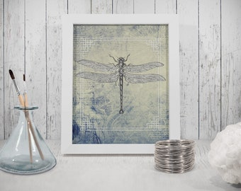 Insect Print, Downloadable Prints,  Insects  Dragonfly, Insect print, antique looking drawings
