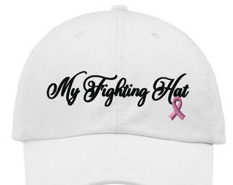 Custom Baseball Cap Cancer Pink Ribbon Believe Embroidery Cotton Soft Mesh Cap Snapback Black Charcoal Personalized Text Here