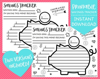 graphic regarding Printable Money Saving Charts known as Cost savings chart Etsy