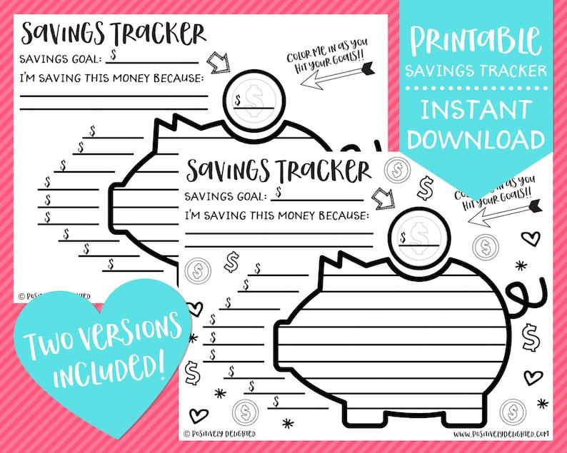 photo regarding Printable Money Saving Charts identify Financial savings Tracker Printable Price savings Problem Price savings Chart Cost savings Printable Budgeting Printable Prompt Obtain PDF