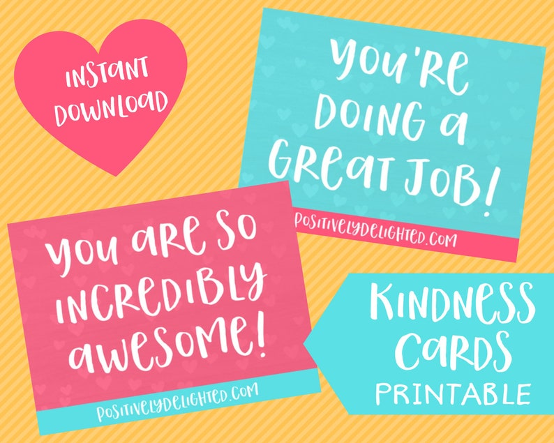 picture about Kindness Cards Printable called Kindness Playing cards Printable Lunch box notes Confirmation playing cards Kindness clroom video game Higher education notes Fast Down load PDF