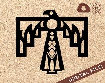 Thunderbird Native American SVG Digital Die Cut JPG PNG Silhouette Transfer File For Clip Art, T-shirt, & Paper Craft