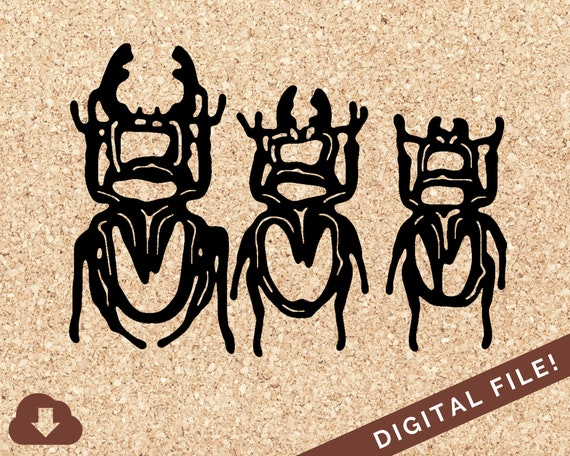Stag Beetles Phylum Arthropoda Insect Svg Files For Cricut Etsy