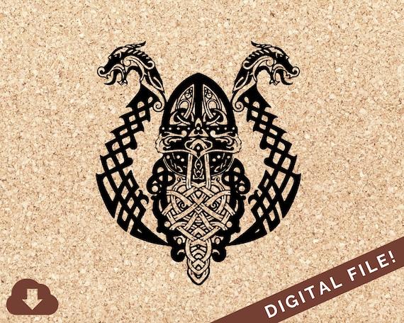 Odin Norse Mythology Svg Cut Files Fathers Day Card Png Use Etsy
