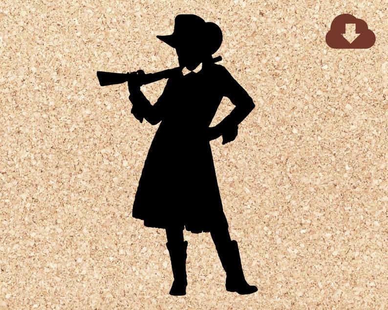 Annie Oakley Cowgirl Western Style SVG Cut File / Digital image 1