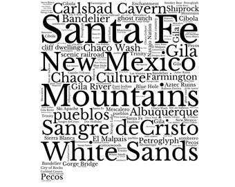 new mexico digital etsy Powder Ski Apache new mexico digital word art element