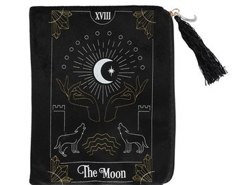Basic Zip Tarot  Oracle Bag Wickedly Witchie Words with Purple Zip.