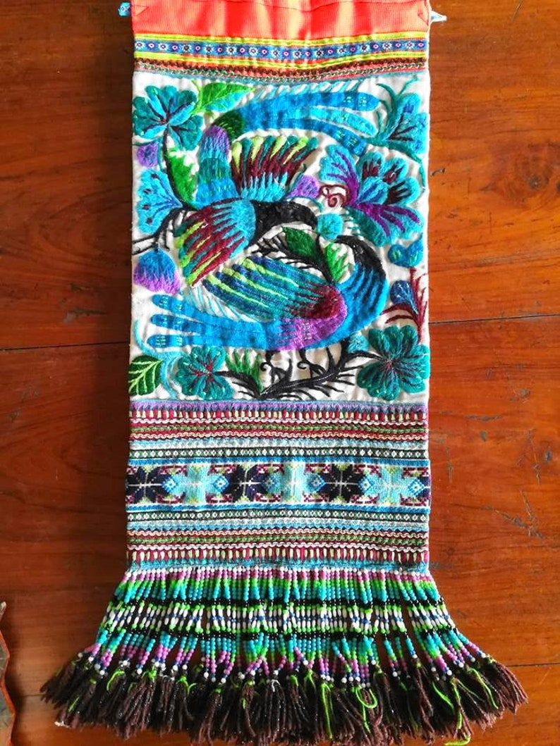 Hill Tribe Vintage Embroidery  Hmong Vintage Textile  image 0