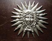 Medusa Head, Stamped Steel, Medusa Head Medallions or Appliques. Medusa Head Metal Embellishments. Free Shipping via USPS