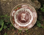 ROYAL WORCESTER Dr. John Wall Commemorative Dinner Plate 11 inch Brown Green. Example ONE