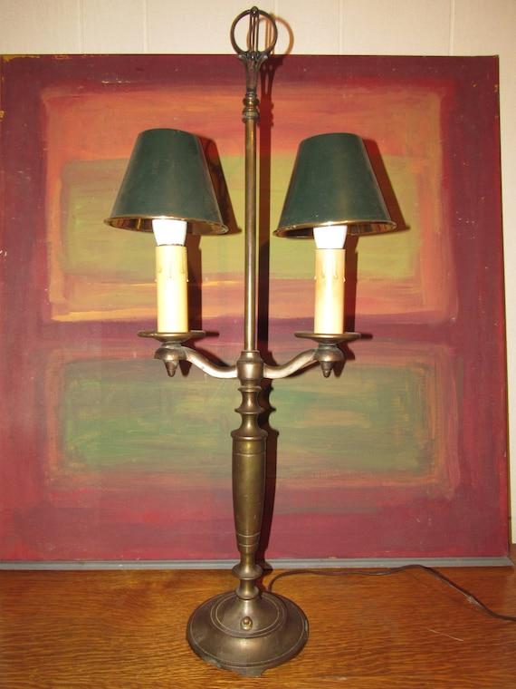 Antique Art Deco Double Candle Stick Lamp LAMP RESTORATION  ~ Art Deco Style Twin Candle Lamp