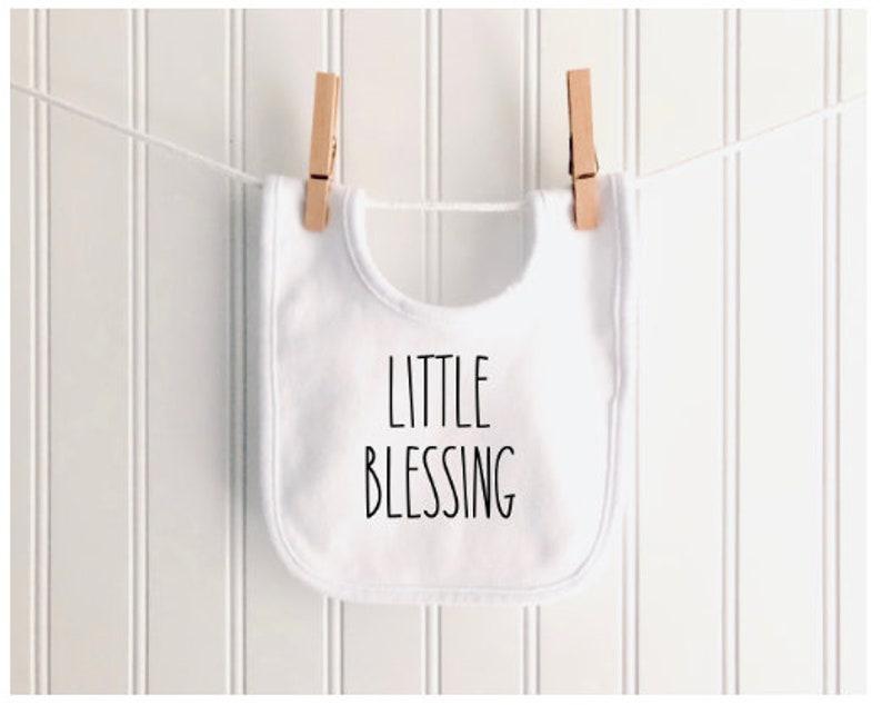 LITTLE BLESSING baby bib with custom option