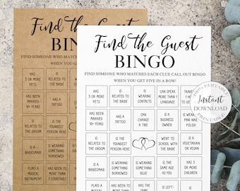 Wedding Bingo Bingo Wedding Wedding Games Guests Wedding Gift Wedding 50 Bingo Cards Watercolor Wedding Wedding Game German