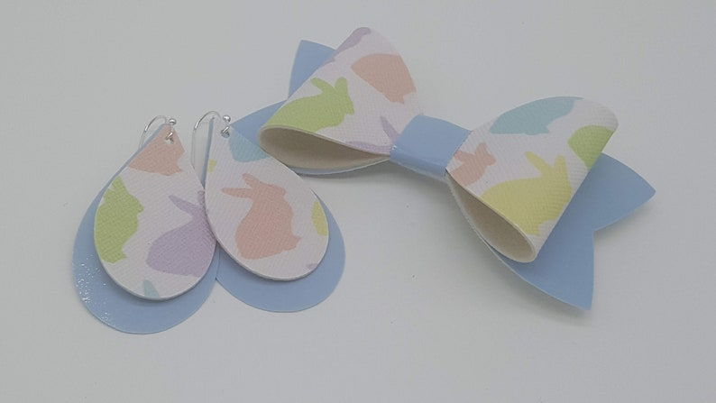 Mommy and Me Easter Bow set