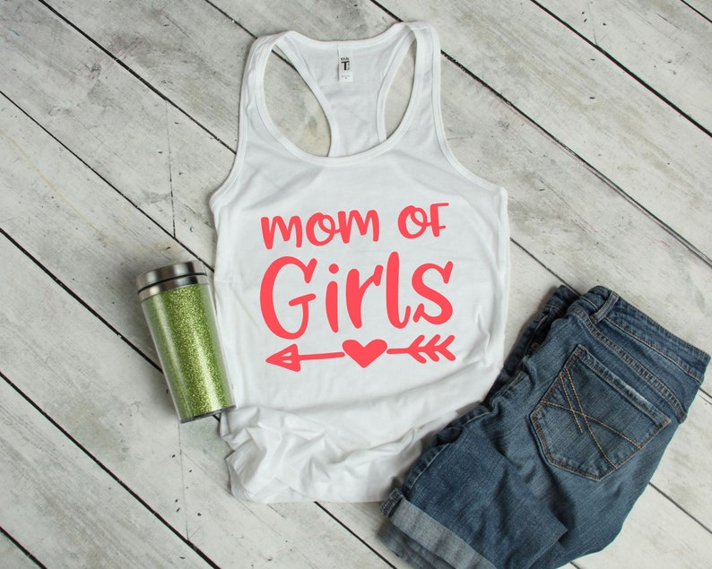 Mother Gifts From Daughters Worlds Greatest Girl Mom Shirt Summer Tank Tops For Mom Life Mom Of Girls Tank Top For Women Spring Apparel
