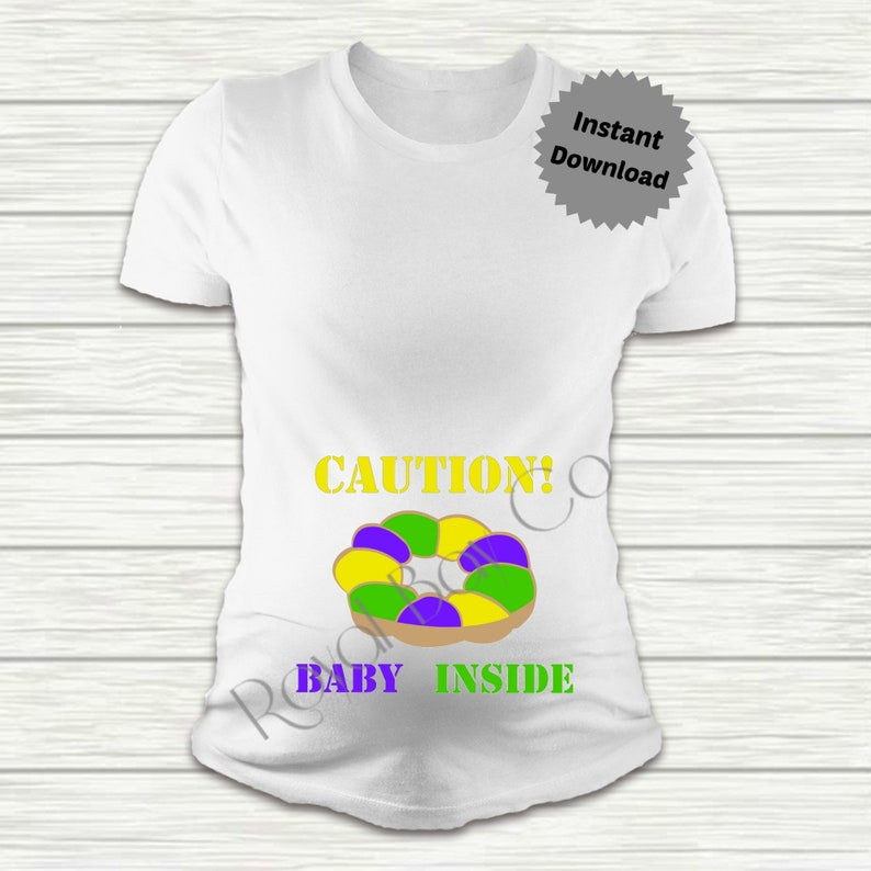 a60f71a8c9c0a Caution Baby Inside svg King Cake Svg Mardi Gras svg Baby | Etsy