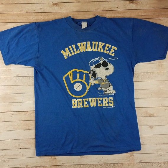 Vintage 1980s Milwaukee Brewers Classic Logo Snoop