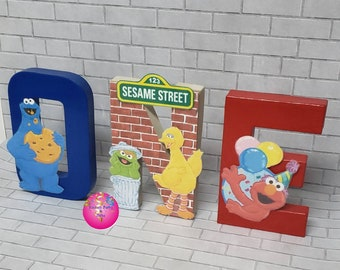 Sesame Street Birthday Party Letters 1st 2nd Block Decorations St
