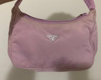 d8f0df222989a9 ... official store vintage prada it girl bag nylon tessuto mini pinky shade  pink purple 9ae8a 7c8d7