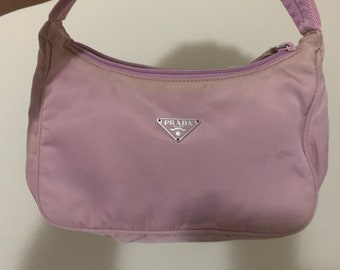 Vintage Prada it girl bag nylon tessuto mini pinky shade pink purple 1258fef8f1